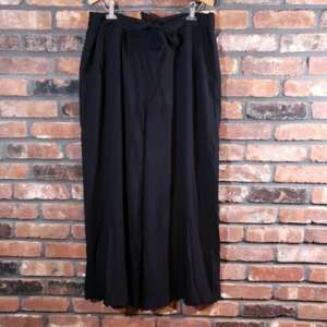 a.n.a A New Approach Wide Leg Tie Waist Crop Pants